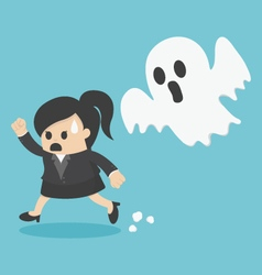 business woman Run ghost vector image