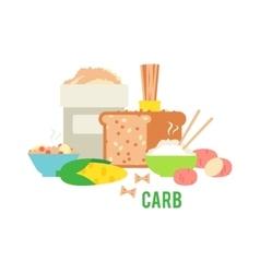 Carbs food vector