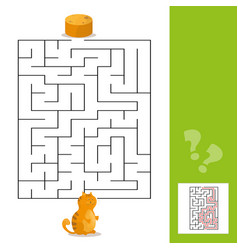 Cartoon paths or maze puzzle activity game vector
