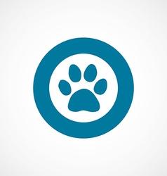 cat footprint bold blue border circle icon vector image