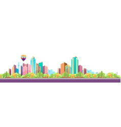 City landscape horizontal day banner vector