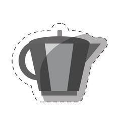 coffee pot handle cut line vector image