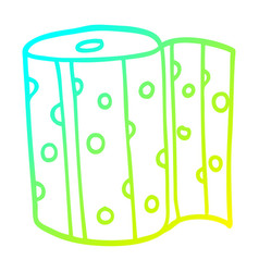 Cold gradient line drawing cartoon dotty kitchen vector