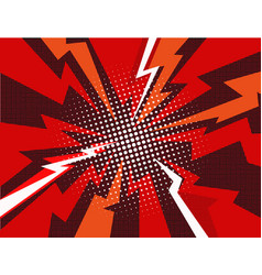 Comic book explosion ray background vector