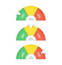 Credit score set vector