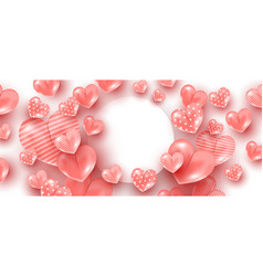 delicate pink marshmallows heart shaped balloon vector image