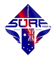 design shield australia surf rider team extreme vector image