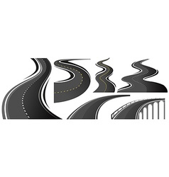 Different shape of roads vector