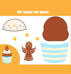 Diy children educational creative game paper vector