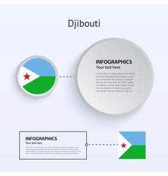 Djibouti Country Set of Banners vector image
