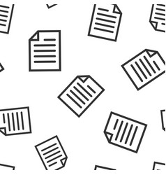 Document note icon seamless pattern background vector