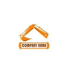 Excavator arm digger for logo design vector