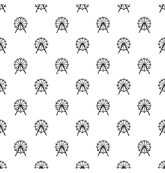 Ferris wheel pattern simple style vector