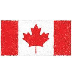Hand drawn of flag of Canada vector