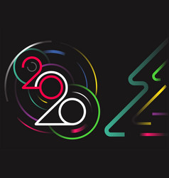 Happy new 2020 year concept vector
