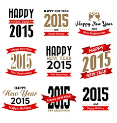 Happy new year typographic design vector