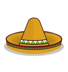 hat mexican symbol graphic vector image