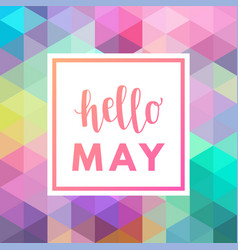 Hello may sale banner vector