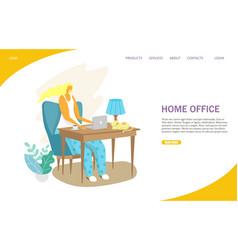 home office website landing page design vector image