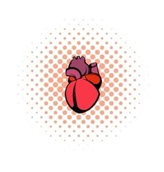 Human heart icon comics style vector image