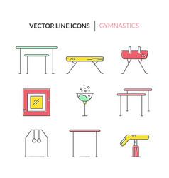 Icons with gymnastics symbols vector