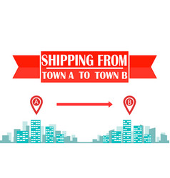 Intercity shipping business flat banner layout vector