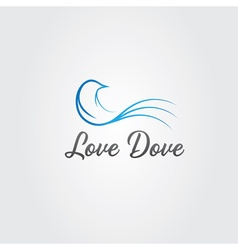Love dove design template vector