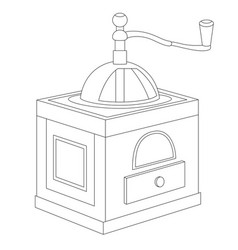 Manual coffee grinder vector