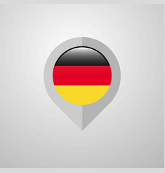 Map navigation pointer with germany flag design vector