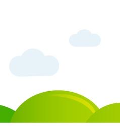 Meadow background vector