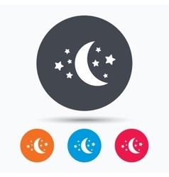 Moon and stars icon Night sleep sign vector