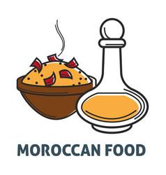 Moroccan cuisine food icon vector