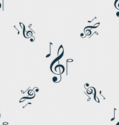 musical notes icon sign Seamless pattern with vector image