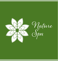 nature spa leaf logo design template white color vector image