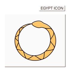 Ouroboros color icon vector