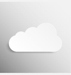 Paper Banner Mockup Cloud Weather vector