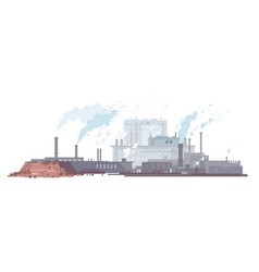 Paper mill in flat style isolated vector