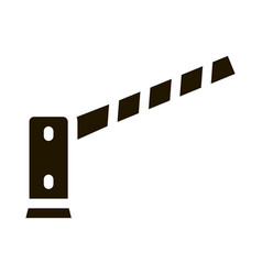 Parking barrier icon glyph vector