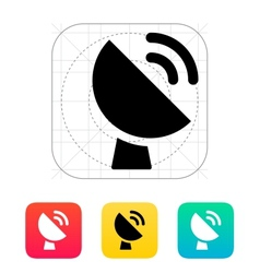 Radio radar transmitting signal icon vector