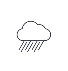 rain cloud storm weather thin line icon linear vector image