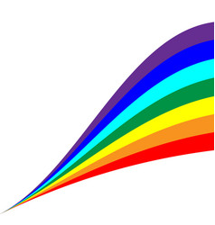 Rainbow diagonal sign 804 vector