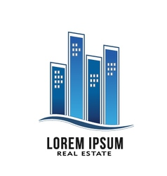 Real Estate Buildings Logo vector image