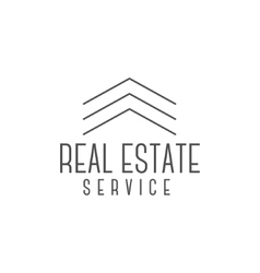 real estate logo design realtor icon vector image