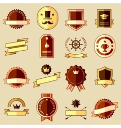 Retro flat vintage labels signs badges vector image