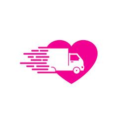 Romance delivery logo icon design vector