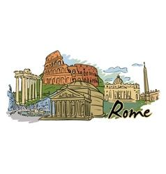 Rome doodles vector