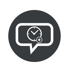 Round add time dialog icon vector