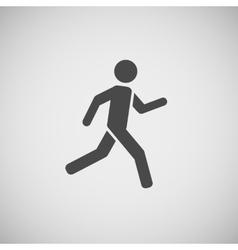 running walking going man eps10 vector image