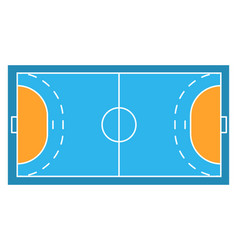 Sample sport field arens handball vector