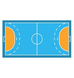 Sample sport field arens of handball vector